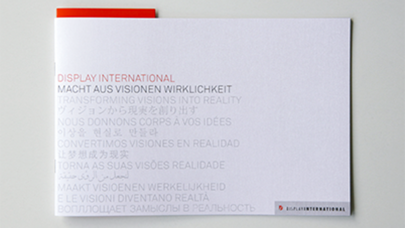 Corporate Identity Corporate Literatur Design Display International